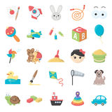 Toys 25 cartoon icons set for web Royalty Free Stock Photography