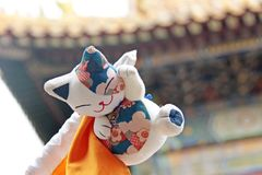 Toys cat China. Chinese toy cat stock photography