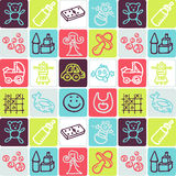 Toys checked pattern stock image