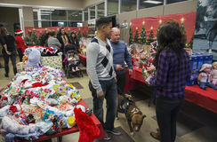 Toys for children at Christmas dinner for US Soldiers at Wounded Warrior Center, Camp Pendleton, North of San Diego, California. USA stock image