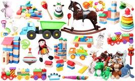 Toys for children horizontal background Stock Photos