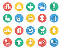Toys and children icons vector set Royalty Free Stock Image