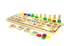 Toys for children,Jigsaw, geometry. Children toy, Brain development, Skills Preschool Royalty Free Stock Image