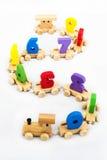 Toys for children,Jigsaw, geometry. Toy train numbers, Brain development, Skills Preschool Stock Photography
