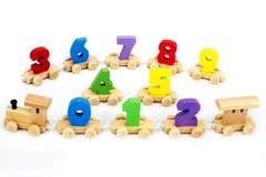 Toys for children,Jigsaw, geometry. Woodent toy train numbers, Brain development, Skills Preschool Royalty Free Stock Image
