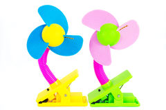 Toys for children. Plastic toy fan, Suitable for children Stock Photography