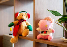 Toys in Children's Room. Soft toys in Children's Room Royalty Free Stock Photos