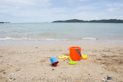 Toys for childrens sandboxes Royalty Free Stock Photo