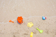 Toys for childrens sandboxes Stock Images