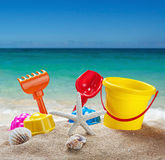 Toys for childrens sandboxes Royalty Free Stock Photos