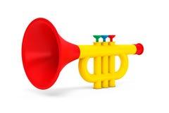 Toys Childs trumpet Royaltyfri Bild