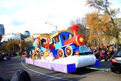 Toys at Christmas Parade in Toronto Stock Photo