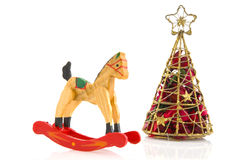 Toys with christmas tree Stock Photography