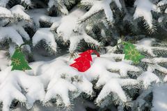 Toys on the christmas tree Royalty Free Stock Photography