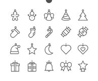 Toys on the Christmas tree UI Pixel Perfect Well-crafted Vector Thin Line Icons 48x48 Ready for 24x24 Grid for Web. Graphics and Apps with Editable Stroke Stock Photo
