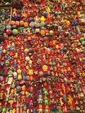 Toys. Collection market vintage colors Stock Image