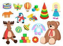 Toys Collection Of Factory Vector Illustration Stock Photos