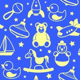 Toys collection wallpaper Royalty Free Stock Images