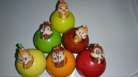 Toys. Color baever fruit fake stock image