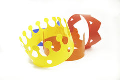 Toys colored crowns Stock Images