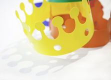 Toys colored crowns Stock Photography