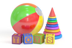Toys concept, 3D rendering vector illustration
