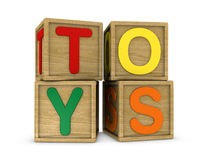Toys cubes Royalty Free Stock Photos