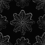 toys den svarta julen för bakgrund fyra snowflakes för prydnadar s för päls nya treewhiteår Minimalism och symmetri Arkivbilder