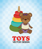 Toys design over blue background vector illustration Stock Image