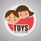 Toys design over gray background vector illustration. Toys design over gray background, vector illustration Stock Images