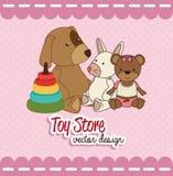 Toys design over pink background vector illustration Stock Images