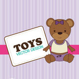 Toys design over purple background vector illustration Royalty Free Stock Image