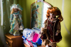 Toys, dolls, strollers for dolls Stock Photos