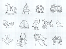 Toys doodle Royalty Free Stock Images