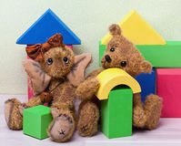 Toys: Elephant and Teddy Stock Image