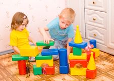 toys för barnspelrum Royaltyfri Foto