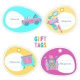 Toys för flickor Uppsättning av vektorcliparts royaltyfri illustrationer