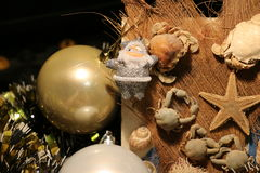 toys för spheres för bakgrundsjul exponeringsglas vita isolerade Royaltyfri Fotografi