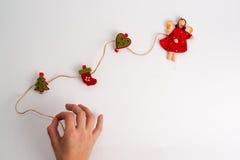 toys för spheres för bakgrundsjul exponeringsglas vita isolerade Royaltyfria Foton
