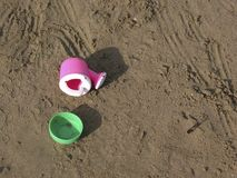 toys för strandbarn s Arkivfoto