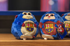 Toys with FC Barcelona Emblem Stock Photos
