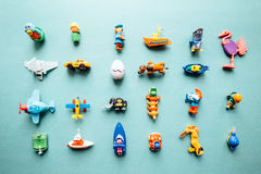 Toys, flat lay stock images