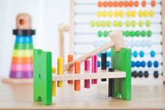 Free Toys For Preschool And Kindergarten Or Daycare. Stock Photo - 111150280