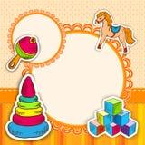 Toys frame sketch stock illustration