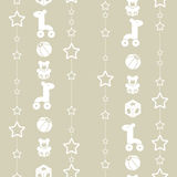 Toys and garland of stars. Seamless pattern with toys and garland of stars. Seamless pattern can be used for wallpaper, pattern fills, web page Stock Photos