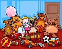 Toys group cartoon illustration Royalty Free Stock Photography