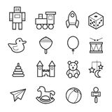 Toys icon collection Stock Photography