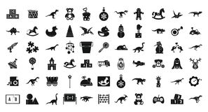 Toys icon set, simple style. Toys icon set. Simple set of toys vector icons for web design isolated on white background Stock Image