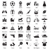 Toys icon set Royalty Free Stock Photo