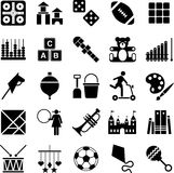 Toys icons. Several icons representing the world of toys and games Stock Photo